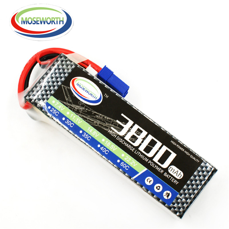 MOSEWORTH RC Airplan Lipo pil 11.1 V 3 S Quadcopter Helikopter RC Uçağı için 3800 mah 60C batteria AKKU