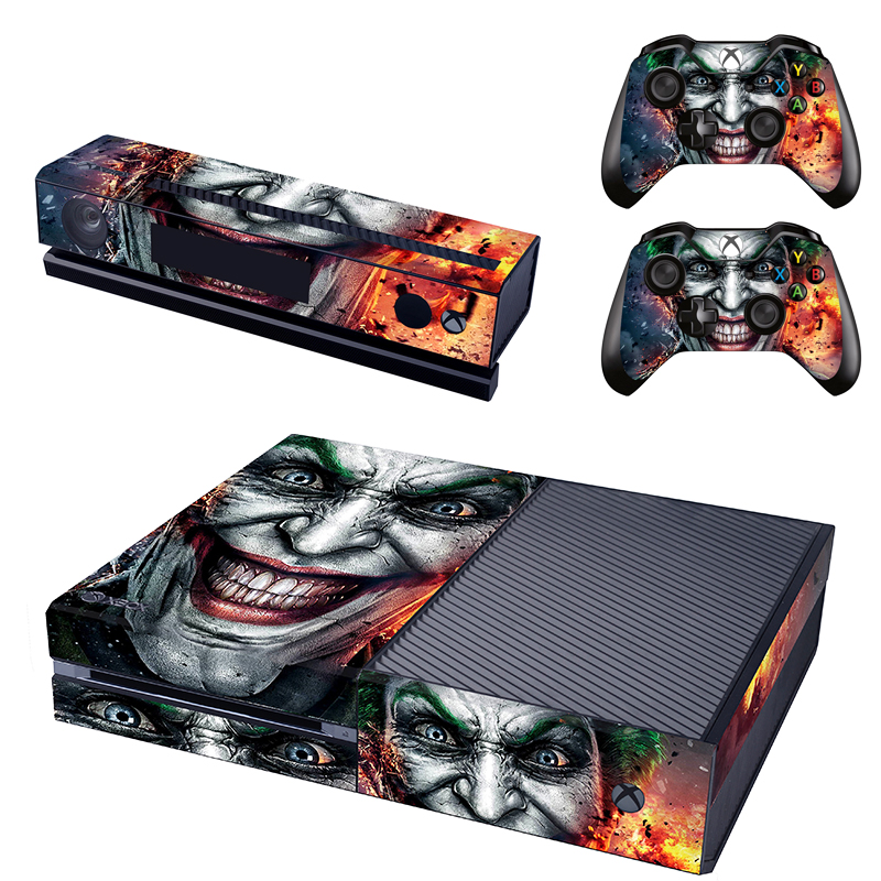 HOMEREALLY PVC Cilt Sticker Klasik JokerMan Kapak Xbox one Konsol ve 2 Kontrolör Cilt