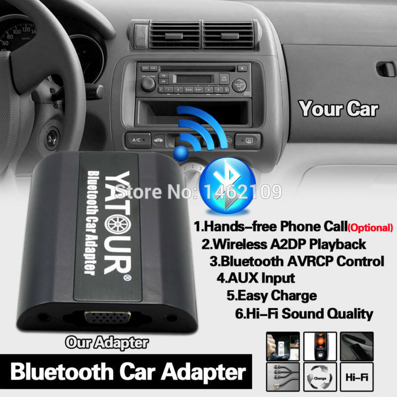 Yatour Bluetooth Araç Adaptörü Dijital Müzik CD Changer Connector Suzuki Jimny SX4/Swift VI/Grand Vitara Clarion OEM Radyolar